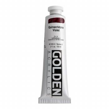 Golden Heavy Body Acrylics, 2 oz, Quinacridone Violet