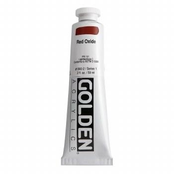 Golden Heavy Body Acrylics, 2 oz, Red Oxide