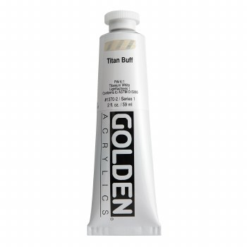 Golden Heavy Body Acrylics, 2 oz, Titan Buff