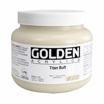 Golden Heavy Body Acrylics, Quart Jars, Titan Buff