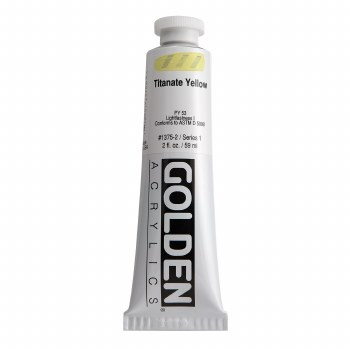 Golden Heavy Body Acrylics, 2 oz, Titanate Yellow