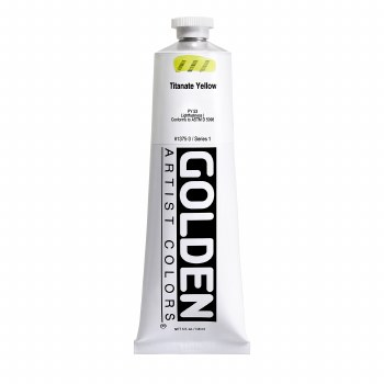 Golden Heavy Body Acrylics, 5 oz, Titanate Yellow