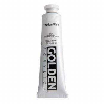 Golden Heavy Body Acrylics, 2 oz, Titanium White