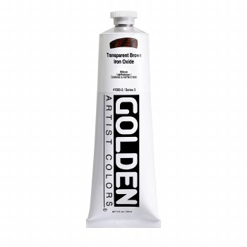 Golden Heavy Body Acrylics, 5 oz, Transparent Brown Oxide