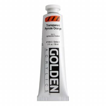 Golden Heavy Body Acrylics, 2 oz, Transparent Pyrrole Orange