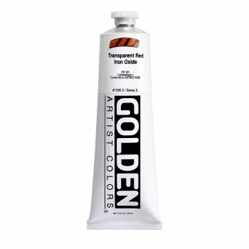 Golden Heavy Body Acrylics, 5 oz, Transparent Red Iron Oxide
