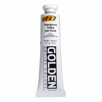 Golden Heavy Body Acrylics, 2 oz, Transparent Yellow Iron Oxide