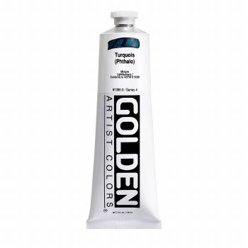 Golden Heavy Body Acrylics, 5 oz, Turquoise (Pthalo)