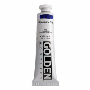 Golden Heavy Body Acrylics, 2 oz, Ultramarine Blue