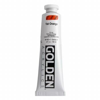 Golden Heavy Body Acrylics, 2 oz, Vat Orange