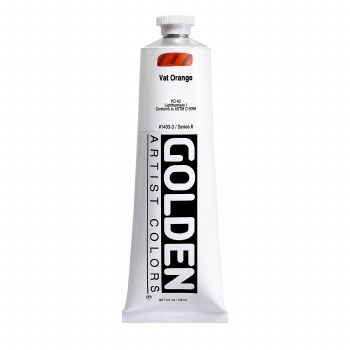 Golden Heavy Body Acrylics, 5 oz, Vat Orange
