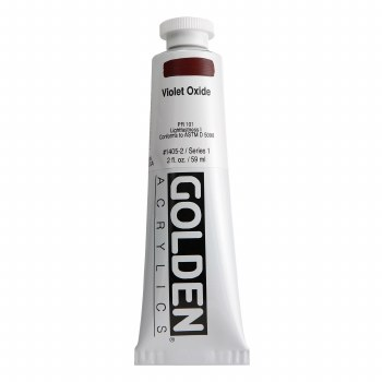 Golden Heavy Body Acrylics, 2 oz, Violet Oxide