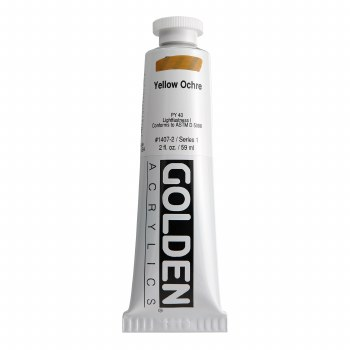 Golden Heavy Body Acrylics, 2 oz, Yellow Ochre
