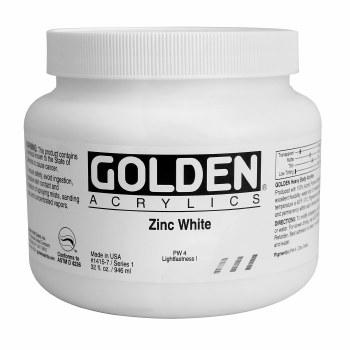 Golden Heavy Body Acrylics, Quart Jars, Zinc White