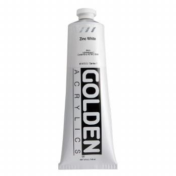 Golden Heavy Body Acrylics, 5 oz, Zinc White