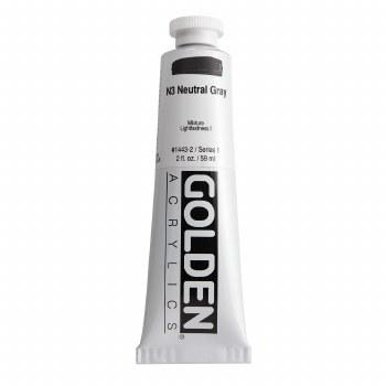 Golden Heavy Body Acrylics, 2 oz, Neutral Gray 3