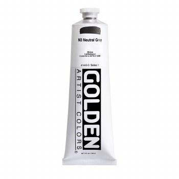 Golden Heavy Body Acrylics, 5 oz, Neutral Gray 3