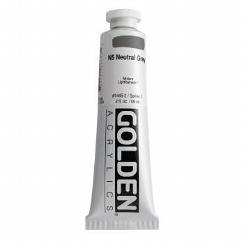 Golden Heavy Body Acrylics, 2 oz, Neutral Gray 5