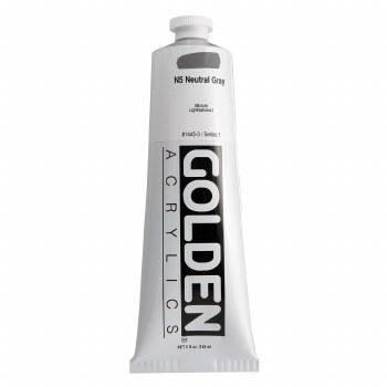 Golden Heavy Body Acrylics, 5 oz, Neutral Gray