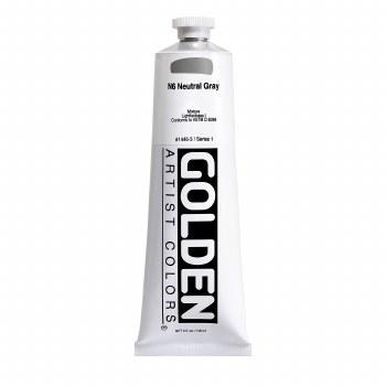 Golden Heavy Body Acrylics, 5 oz, Neutral Gray 6