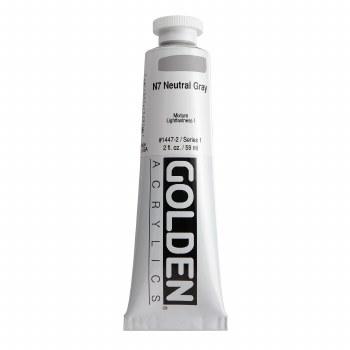 Golden Heavy Body Acrylics, 2 oz, Neutral Gray 7