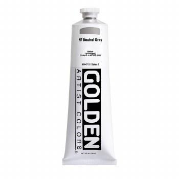 Golden Heavy Body Acrylics, 5 oz, Neutral Gray 7