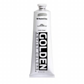 Golden Heavy Body Acrylics, 5 oz, Neutral Gray 8