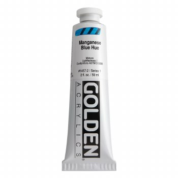 Golden Heavy Body Acrylics, 2 oz, Manganese Blue Hue