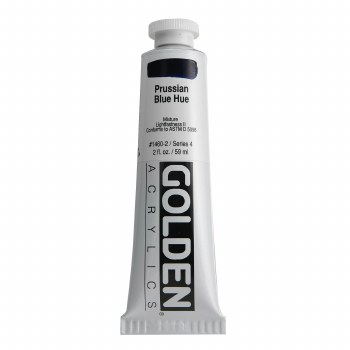 Golden Heavy Body Acrylics, 2 oz, Prussian Blue Hue