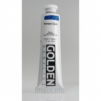 Golden Heavy Body Acrylics, 2 oz, Primary Cyan