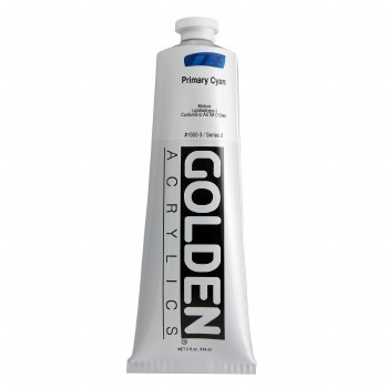 Golden Heavy Body Acrylics, 5 oz, Primary Cyan