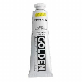 Golden Heavy Body Acrylics, 2 oz, Primary Yellow