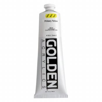 Golden Heavy Body Acrylics, 5 oz, Primary Yellow