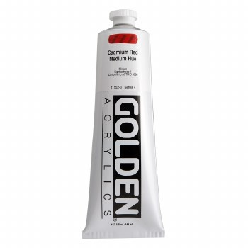 Golden Heavy Body Acrylics, 5 oz, Cadmium Red Medium Hue