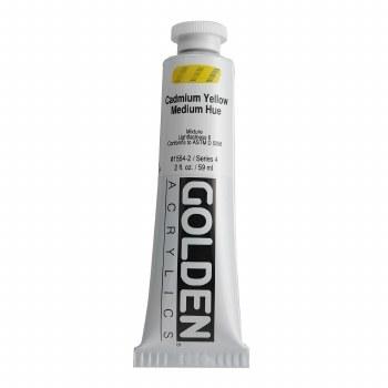 Golden Heavy Body Acrylics, 2 oz, Cadmium Yellow Medium Hue