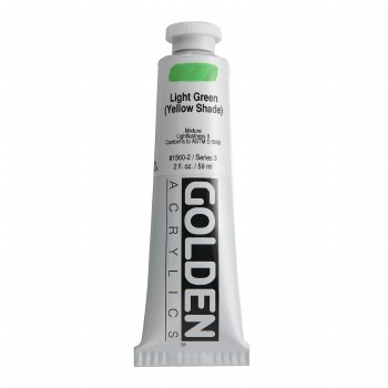 Golden Heavy Body Acrylics, 2 oz, Light Green/Yellow Shade