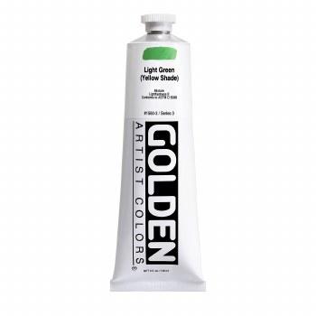 Golden Heavy Body Acrylics, 5 oz, Light Green/Yellow Shade