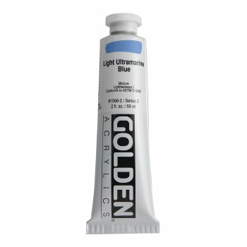 Golden Heavy Body Acrylics, 2 oz, Light Ultramarine Blue