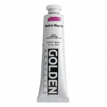 Golden Heavy Body Acrylics, 2 oz, Medium Magenta