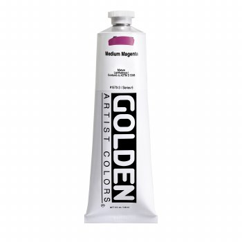 Golden Heavy Body Acrylics, 5 oz, Medium Magenta