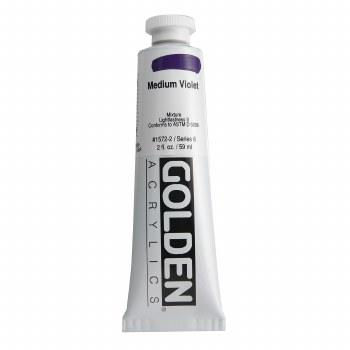 Golden Heavy Body Acrylics, 2 oz, Medium Violet