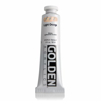 Golden Heavy Body Acrylics, 2 oz, Light Orange
