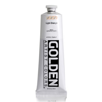Golden Heavy Body Acrylics, 5 oz, Light Orange