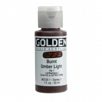 Golden Fluid Acrylics, 1 oz, Burnt Umber Light