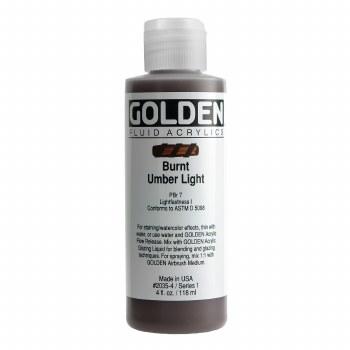 Golden Fluid Acrylics, 4 oz, Burnt Umber Light