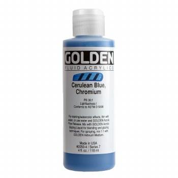 Golden Fluid Acrylics, 4 oz, Cerulean Blue Chromium