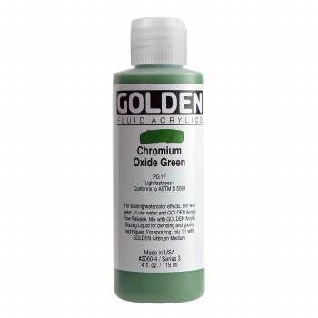 Golden Fluid Acrylics, 4 oz, Chromium Oxide Green