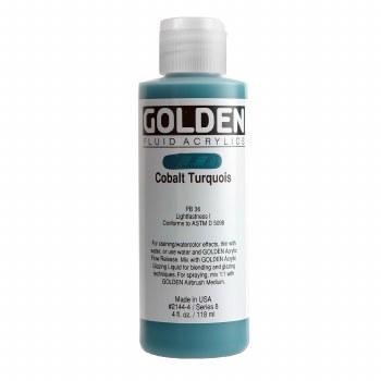 Golden Fluid Acrylics, 4 oz, Cobalt Turquoise