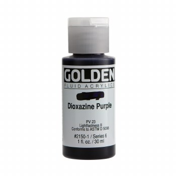 Golden Fluid Acrylics, 1 oz, Dioxazine Purple