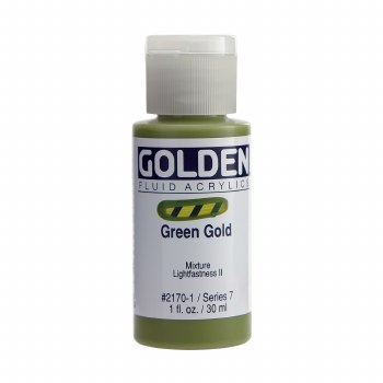 Golden Fluid Acrylics, 1 oz, Green Gold